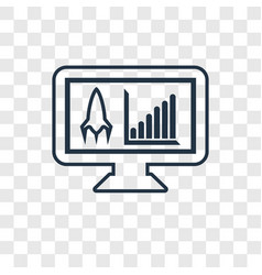 Development concept linear icon isolated on vector