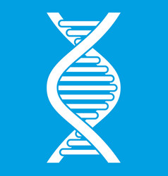 Dna strand icon white vector