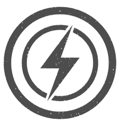 Electrical Hazard Icon Rubber Stamp vector