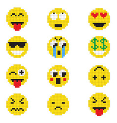 emoticon with various emotions vector image