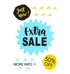 Extra sale mobile banner template vector