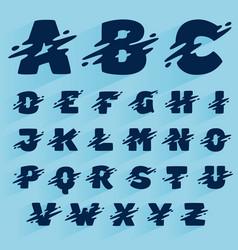 Fast speed alphabet design template vector