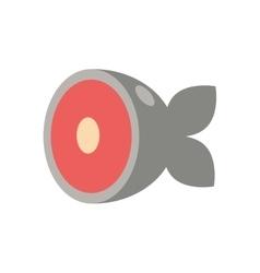 Fish healthy food organic icon vector