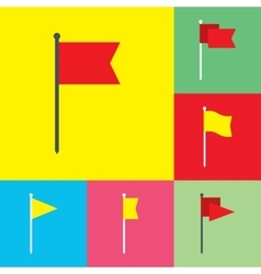 Flag Flat Icons Set vector image