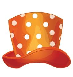 funny orange hat vector image