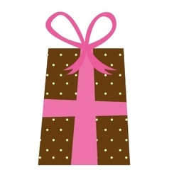 gift box present icon vector image