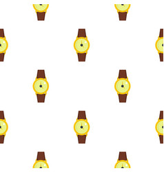 gold wristwatch pattern seamless vector image