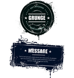 Grunge dirty banners vector