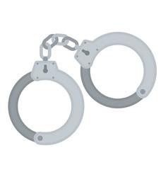 handcuff icon police prison vector image