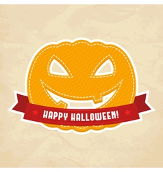 Happy Halloween label vector image