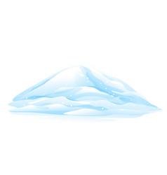 Heap of snow vector