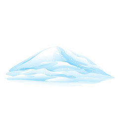 heap of snow vector image