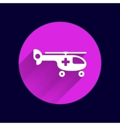 Helicopter ambulance icon medical air vector image