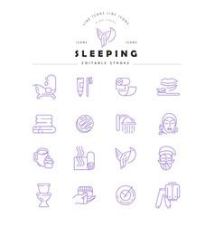 icon and logo for sleeping editable vector image