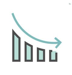 Increase decrease and arrow icon 48x48 pixel vector