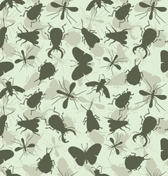 Insects Bee Beetles Mosquito Seamless vector