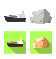 Isolated object of goods and cargo symbol vector