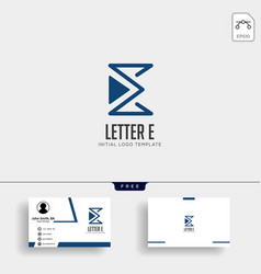 letter e monoline creative logo template qith vector image