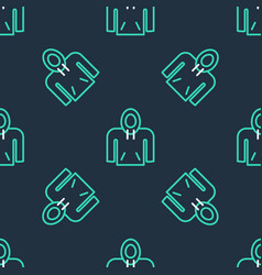 Line hoodie icon isolated seamless pattern vector