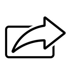 line share arrow icon vector image
