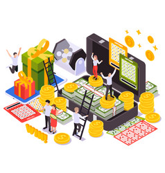 lottery isometric design concept vector image