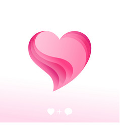 love chat icon decorative heart as speech bubble vector image