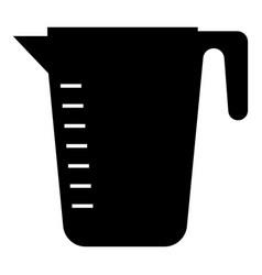 Measuring capacity cup icon black color flat vector