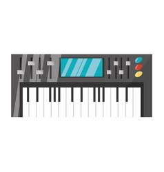 Musical keyboard technology vector