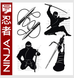 Ninja warrior fighter - mixed martial art vector