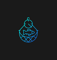 Overfishing gradient icon for dark theme vector