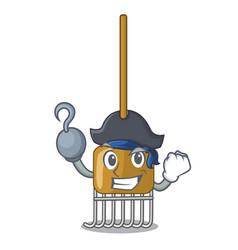 Pirate rake character cartoon style vector