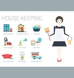 Pretty Housekeeper vector image