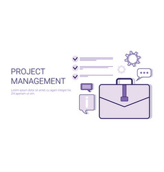project management business idea development vector image