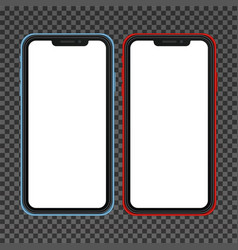 realistic cellphone smartphone vector image