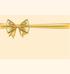 ribbon bow for gift isolated beige background vector image