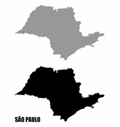 sao paulo state silhouette maps vector image