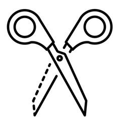 scissors icon outline style vector image