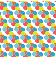 seamless colourful dot pattern vector image