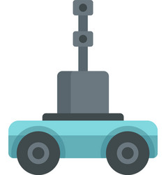 Self driving farm machinery icon flat isolated vector