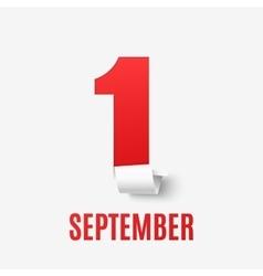 September 1st Back To School background vector
