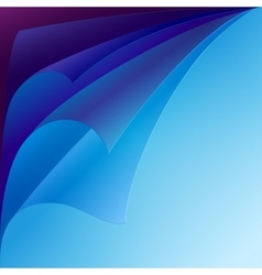 Set of purple and blue curled paper corners with vector image