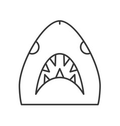 shark head icon set of ocean life line design vector image