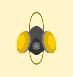 Simple respirator mask graphic vector