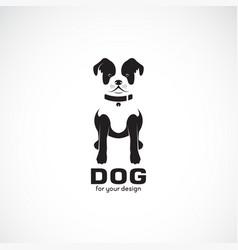 sitting dog bulldog on white background pet vector image