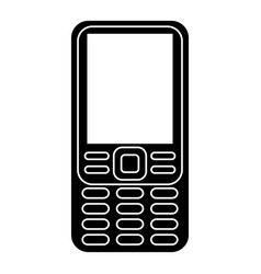 smartphone mobile technology retro pictogram vector image