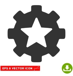 Star Favorites Options Gear Eps Icon vector