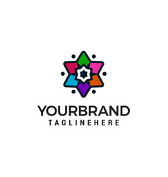star multicolor logo design concept template vector image