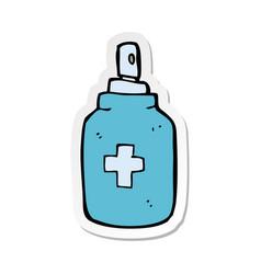 Sticker a cartoon antiseptic spray vector
