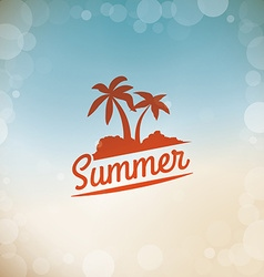 Summer time design vector image