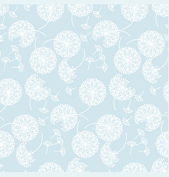 tender pale color abstract dandelion flowers vector image